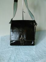 Drift Leather Medium Dark Brown Grab Shoulder Cross Body Hand bag #31