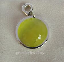 Genuine Authentic Nikki Lissoni Silver Plated 22mm Charm Yellow Glass D1047SM
