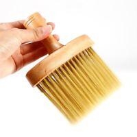 Soft Nylon Beige Neck Face Duster Brushes Hairdressers Styling Hair Brush Tools