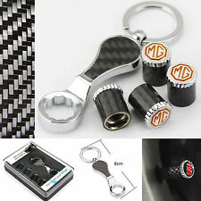 4pcs Carbon Fiber Anti-theft Auto Car Tyre Stems Air Cover Valve Caps for fit MG