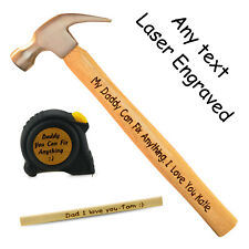 Personalised DIY Tools Gift Grandad Dad Fathers day Birthday Laser Engraved Tool