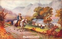 "old postcard "" off to market ! llyn crafnant valley north wales  "" jotter"