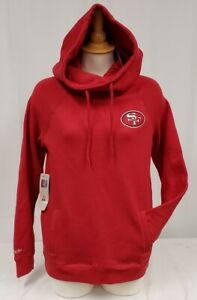 Brand New Women's Mitchell & Ness NFL San Francisco 49ners Funnel Hoody Sweater