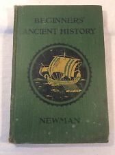 Collectable Beginner's Ancient History By J.B. Newman 1923 Reprint