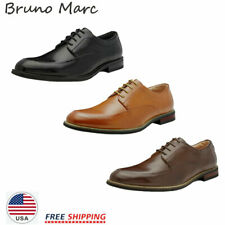 Bruno MARC Mens Fashion Formal Modern Classic Lace Up Leather Lined Oxford Shoes