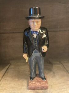 """Lovely Vinrage Pottery Winston Churchill Figure Doulton? 7 1/4"""" In Height"""