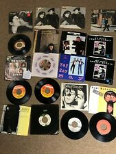 "BEATLES 19x 7"" 45 Vinyl Lot Paul McCartney Wings John Lennon George Harrison PS"
