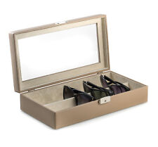 "EYEGLASS CASES - ""ST REGIS"" EYEGLASS CASE - SUNGLASS CASE - TAUPE LEATHER"