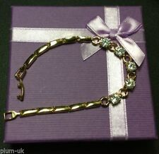 Crystal Yellow Gold Filled Chain/Link Costume Bracelets