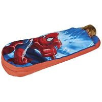 SPIDER-MAN JUNIOR READY BED NEW SPIDERMAN SLEEPING BAG OFFICIAL READYBED