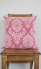 Cushion Cover Hot Pink & Lace - Wedding Baby Kids Child Bedroom Nursery Decor