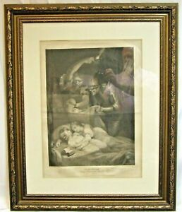 James Northcote antique print Richard 3 1790 in highly decorative frame art