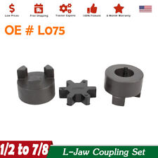 New Listing12 X 78 Shaft Flexible 3 Pc L Jaw Coupler Amp Rubber Spider L075 Coupling Set