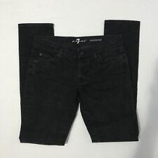 7 FOR ALL MANKIND Roxanne Black Wash Embellished Back Pocket Skinny Jeans Sz 28