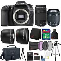 Canon EOS 80D Camera w/ 18-55mm Lens , 75-300mm Lens , Canon Case & Accessories