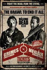 WALKING DEAD - RICK VS NEGAN - FIGHT POSTER 24x36 - TV SHOW GRIMES 160596