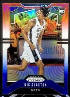 Nic Claxton 2019-20 Panini Prizm Rookie Red White Blue Prizm #292 Brooklyn Nets