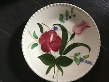 "Blue Ridge Pottery Saucer Plate  Blue Bells 5 7/8"" Southern"