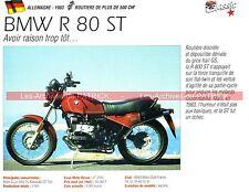 BMW R80/ST ( R80ST R 80 ST ) 1983 Fiche Moto 000155