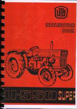"""Universal"""" u-550 Super """"Tractor Operador LIBRO DE INSTRUCCIONES"""