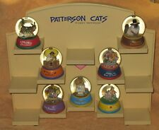 Retired W&W Gary Patterson 7 Cat Snow Globe Holiday Collection Very Cute!