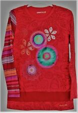 T-shirt fille ML Desigual rouge taille  13/14 neuf