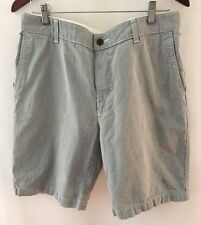 Docker Men's Bleecker Shorts Seersucker Blue Suffield Cotton 34