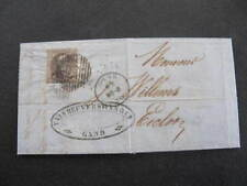 1860 Belgium Cover Stamp 10 Dix Barred Numeral Postmark