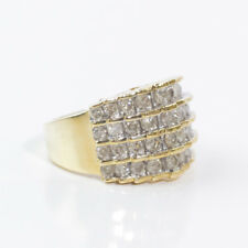 PRECIOUS 10K YELLOW GOLD ZEI ZALES 2 CT CLUSTER DIAMOND RING BAND SIZE 7