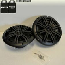 "KICKER Black OEM Replacement Marine 6.5"" 4 Ohm Coaxial Speakers"