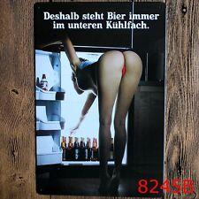 Metal Tin Sign sexy girl propaganda german Bar Pub Home Vintage Retro Poster