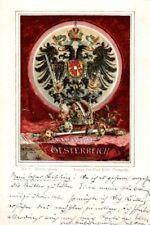 21825/ Litho, Wappen Karte, Kaiserthum Österreich, ca, 1900