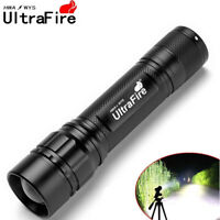 Tactical Ultrafire Flashlight T6 LED 18650 20000Lumen Torch Zoomable Lamp Light