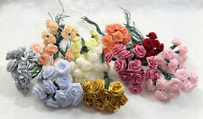 Vtg Millinery Colorful Ribbon Roses Doll Hat Corsage Crafting Lot Of Over 100 Pc