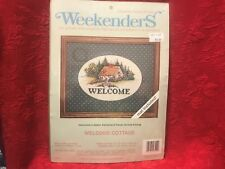 """Weekenders Counted Cross Stitch Kit """"Welcome Cottage"""" w/Designer Mat NIP"""