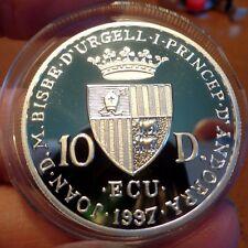 1997 Andorra Musical Composer Antonio Vivaldi Silver Proof 10 Ecu Silver Proof
