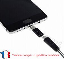 ADAPTATEUR Micro USB Femelle a USB 3.1 Type C Mâle Data Sync connecteur Noir **