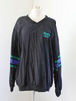 Vtg Mens Snap On Racing ColorBlock Pullover Windbreaker Jacket Size XL Black