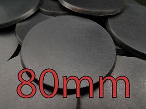 80mm Warhammer Bases Round Wargaming Wargames AOS Plastic