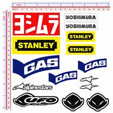 Adesivi sticker sponsor replica gas ufo stanley yoshimura print pvc 15 pz.