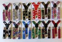 CHILDRENS/KIDS/BOYS/GIRLS FUNKY PATTERNED ADJUSTABLE BRACES-Age 1-12yrs