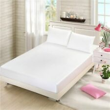 Faux Silk Satin Mattress Protectors Covers Anti-mite Bed Decor Sheet Queen King