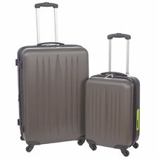 "New Swiss Travel Products Tech Spinner 2 Pcs Luggage Set - 20 "" & 28"" [Charcoal]"