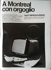 pubblicità advertising werbung BRIONVEGA Algol 11 Montreal 1967