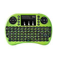 Rii i8+ Green Backlight Wireless Mouse Touchpad Keyboard for PC Smart TV PS4