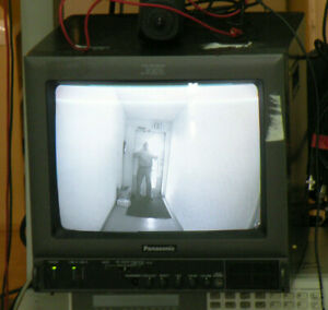 "Panasonic BT-S1370Y 13"" Color Retro Gaming Security Video Monitor"