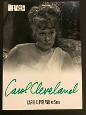 THE AVENGERS COMPLETE COLLECTION SERIES 1 AUTOGRAPH CARD CAROL CLEVELAND - GREEN
