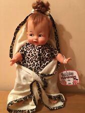 """1963 IDEAL 14"""" BABY PEBBLES FLINTSTONE DOLL w BLANKET & HAIR BONE!"""