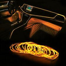 6.5FT LED Car Interior Decor Atmosphere Wire Strip Orange Light Lamp Accessories