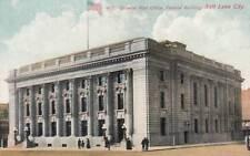 Antique POSTCARD c1907-20 Post Office Federal Building SALT LAKE CITY, UT 17580